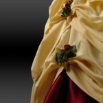 Kleid-Rüsche