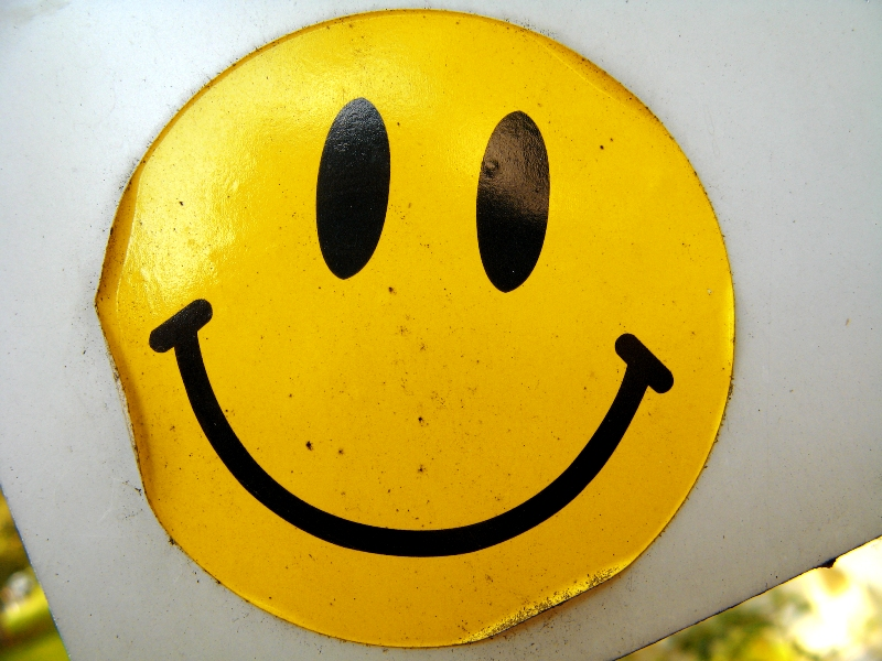 Smiley-Aufkleber