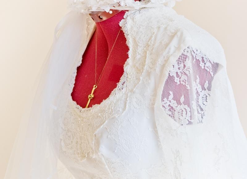 Kleid-Spitze